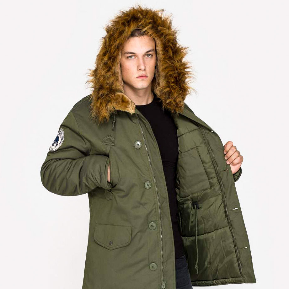 Kurtka Zimowa Alpha Industries Polar Jacket Dark Green