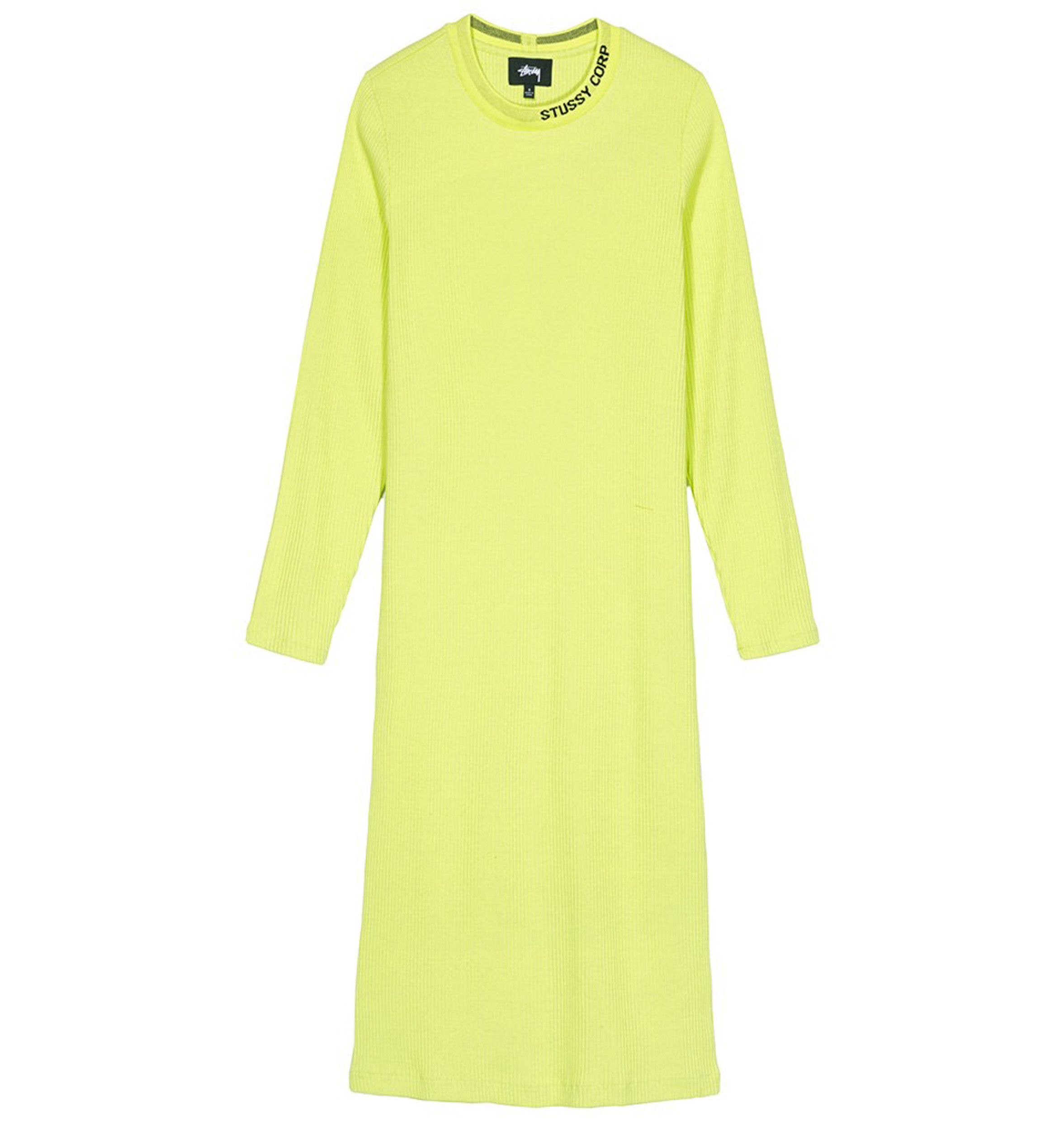 Stussy Temple LS Rib Dress Safety Green