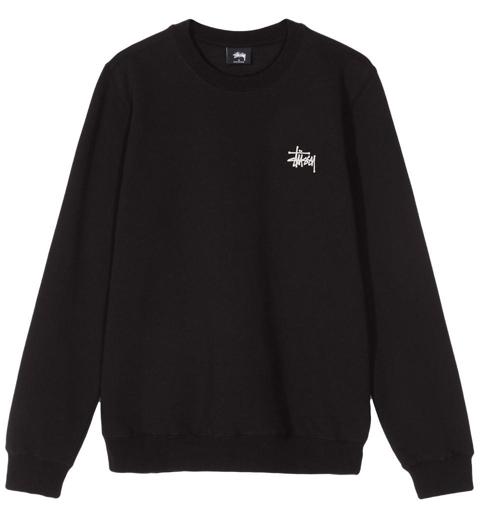 Bluza damska Stussy Basic Logo Crew Black