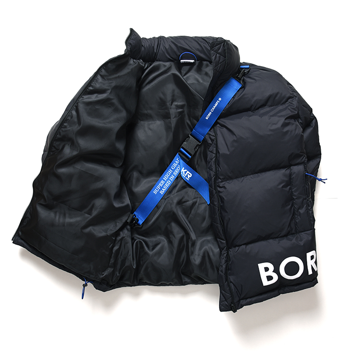 Kurtka puchowa Born Champs Side Logo Down Parka Black