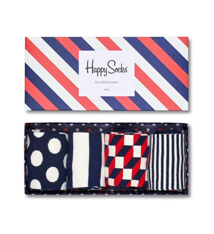 Skarpetki Happy Socks Gift Box 4-Pack Navy