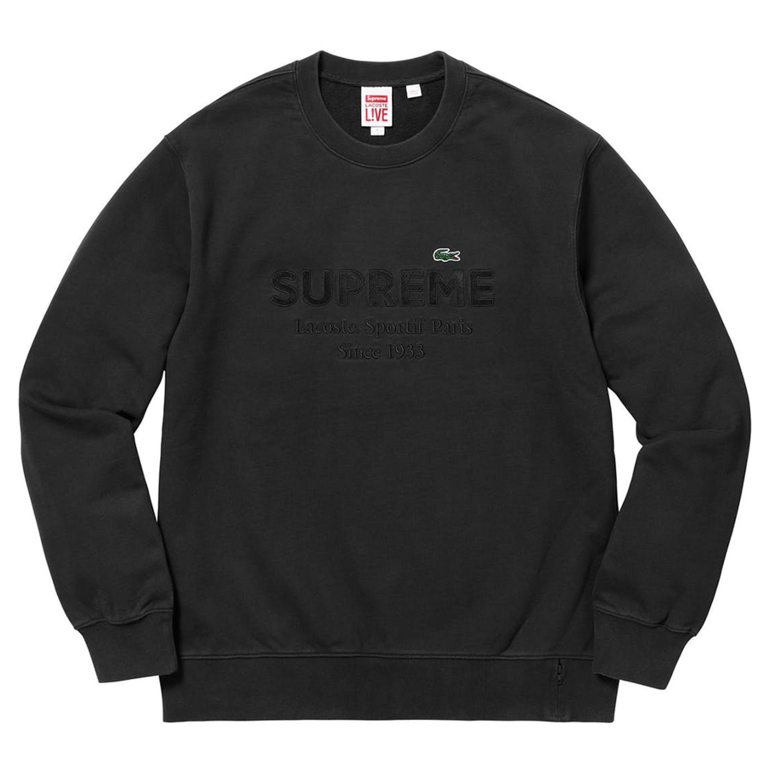 Supreme®/LACOSTE Crewneck Black