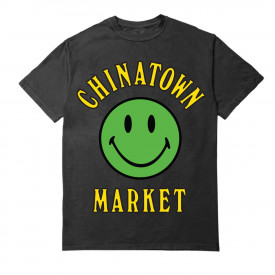Chinatown Market Smiley Multi T-Shirt Black
