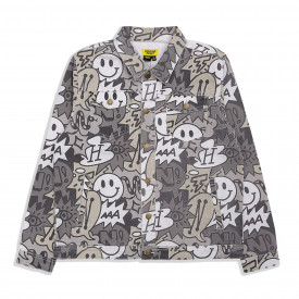 Chinatown Market Speech Bubble Denim Jacket