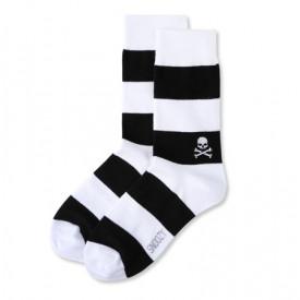 Skarpetki Snoozy Socks Skulls Stripes
