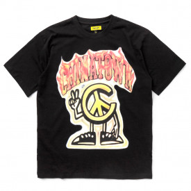 Chinatown Market Peace Guy Flame Arc T-Shirt