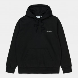 Carhartt WIP Hooded Script Sweatshirt Black