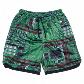 Szorty Pleasures Motherboard Basketball Shorts Green