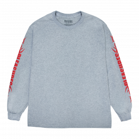 Pleasures Razor Logo Longsleeve Heather Grey