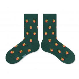 Skarpetki Snoozy Socks French Fries Green