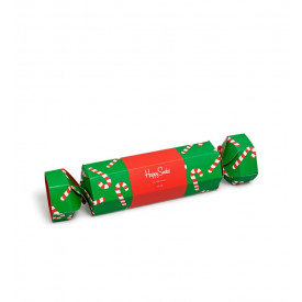 Skarpetki Happy Socks Xmas Giftbox Candy Cane Cracker 2-Pack Green
