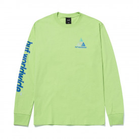 HUF Prism Logo Sportif Long Sleeve T-Shirt Lime