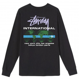 Stussy International LS Tee Black
