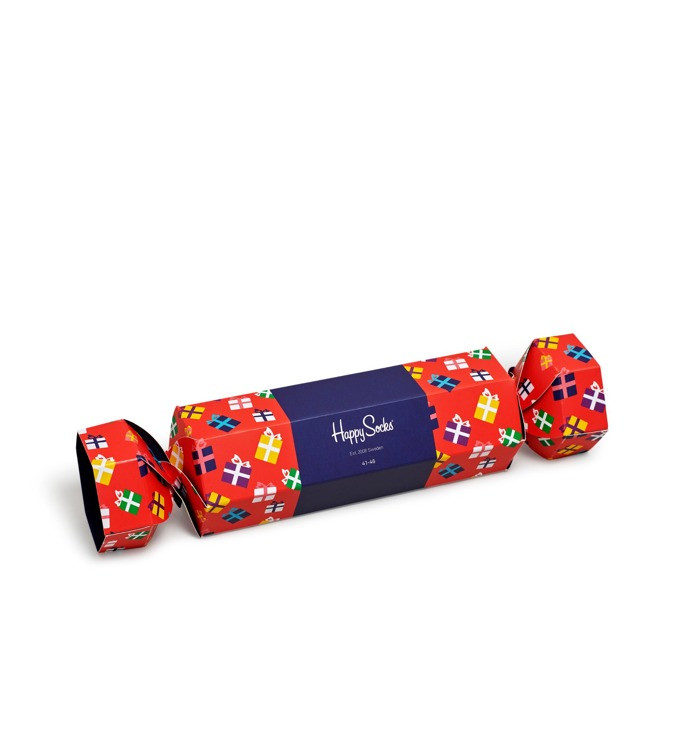 Skarpetki Happy Socks  Giftbox Candy Cane Cracker 2-Pack Red